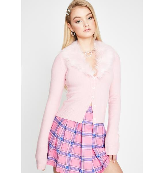Sugar Thrillz Social Status Faux Fur Sweater