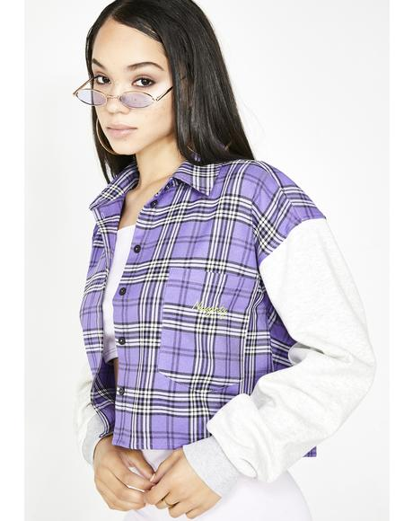 Naughty Plaid Sweatshirt