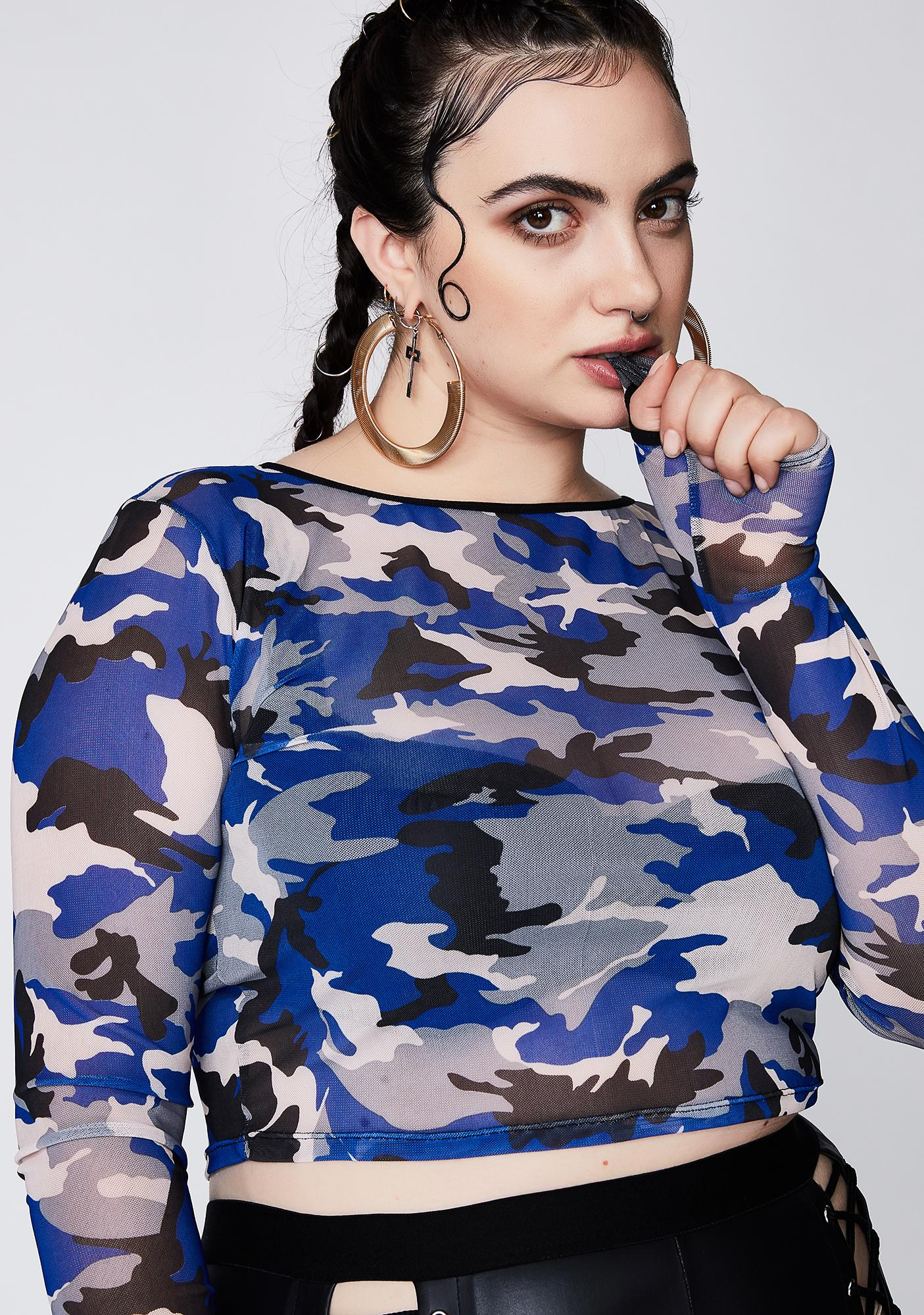 Poster Grl Stand Your Ground Camo Crop Top