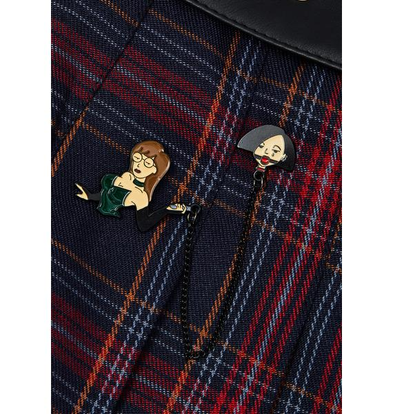Geeky And Kinky Mistress D and Sub J Enamel Pin