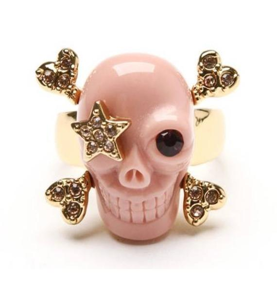 Wildfox Couture Star Patch Skull Ring