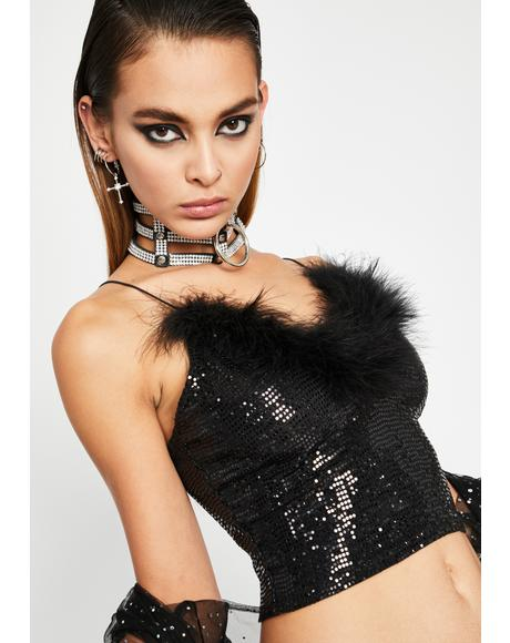 Wishing Hour Sequin Crop Top