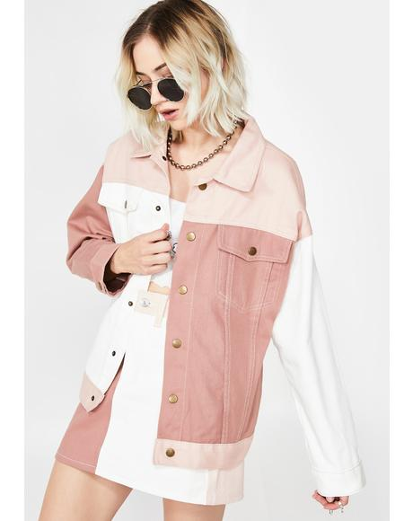 Sweet Colorblock Jacket