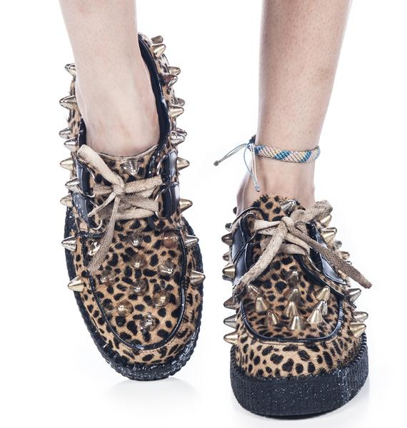Bess NYC Leopard Creepers