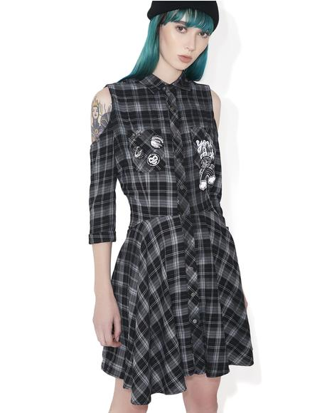 Polly Woven Shirt-Dress