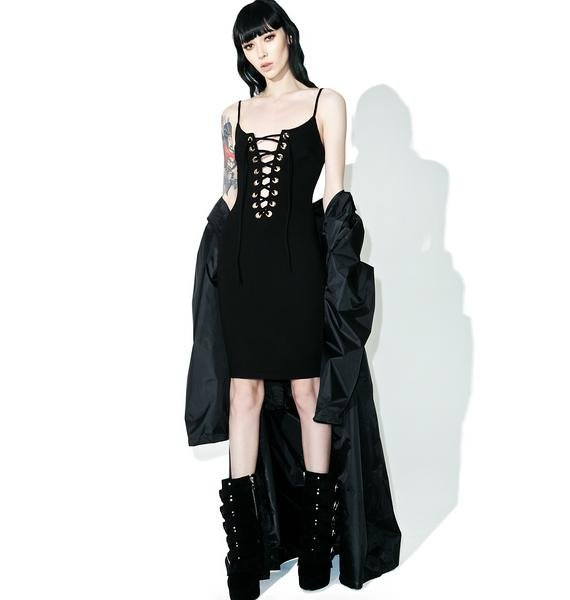 Follow Me Lace Up Dress