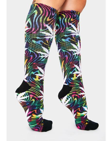 Black Good Trip Plantlife Socks