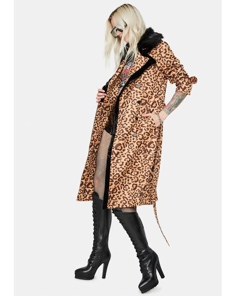 Little By Little Leopard Print Jacket