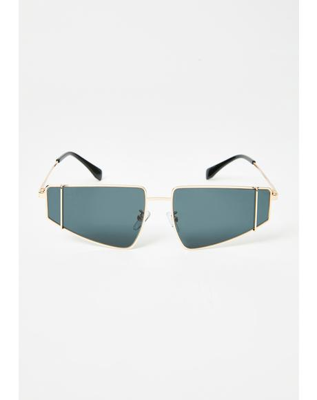 High Authority Rectangle Sunglasses