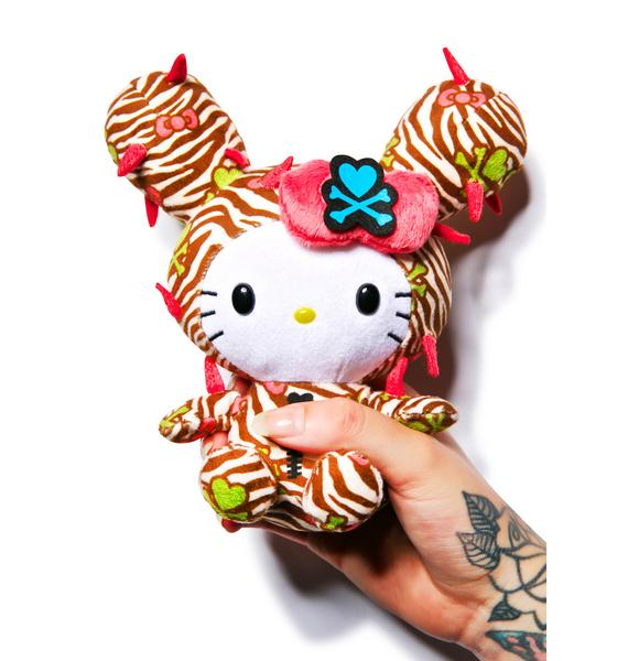 Sanrio Tokidoki X Hello Kitty Summer Safari Cactus Kitty Plush