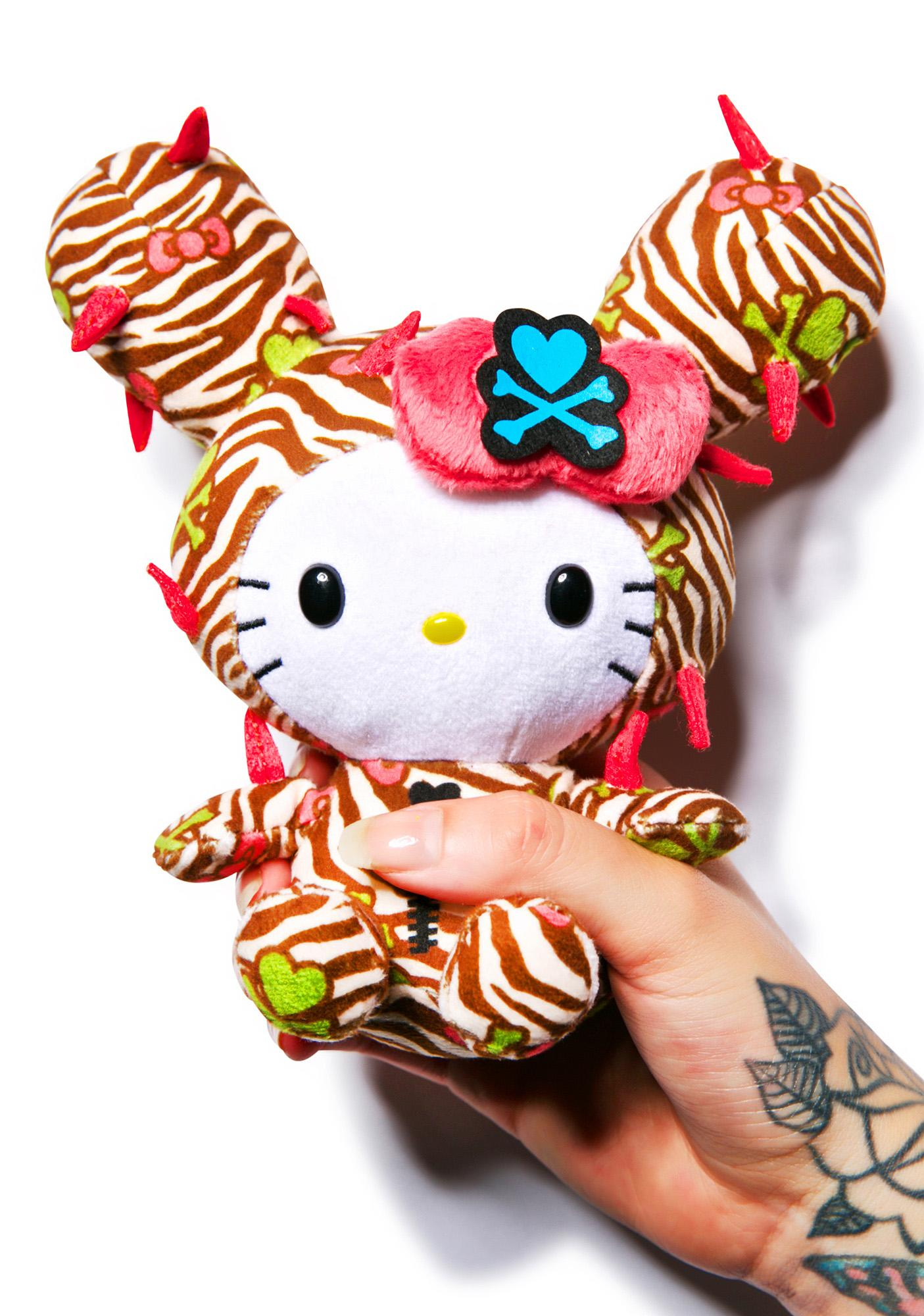 Sanrio Tokidoki X Hello Kitty Summer Safari Cactus Kitty Plush