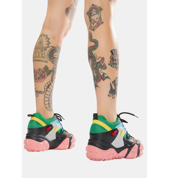 Anthony Wang Green Persimmon Wedge Sneakers