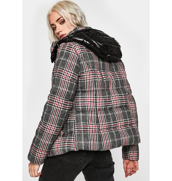 Perfect Plaid Puffer Jacket
