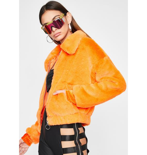 Juicy Make You Jealous Faux Fur Jacket