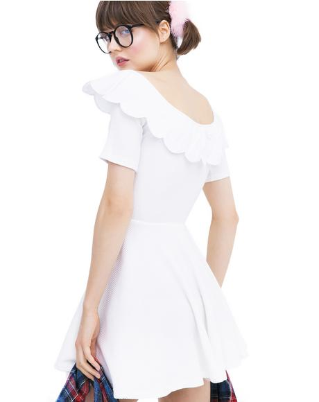 Scallop Sweetheart Dress