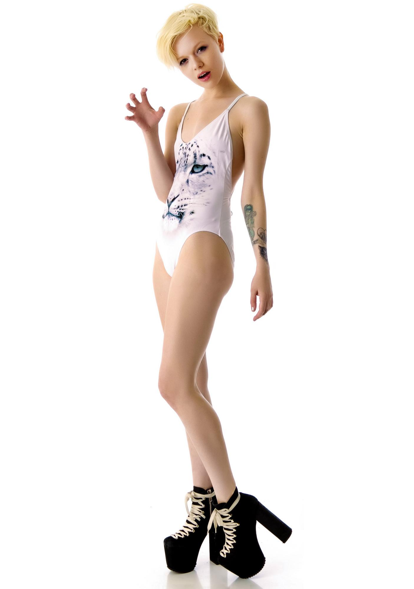 Wildfox Couture Snow Leopard Classic One Piece
