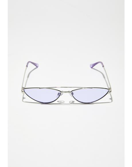 Purp Stackin' Up Skinny Sunglasses