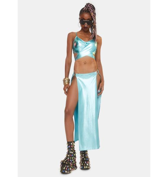 Club Exx Journey To Atlantis Wrap Crop Top