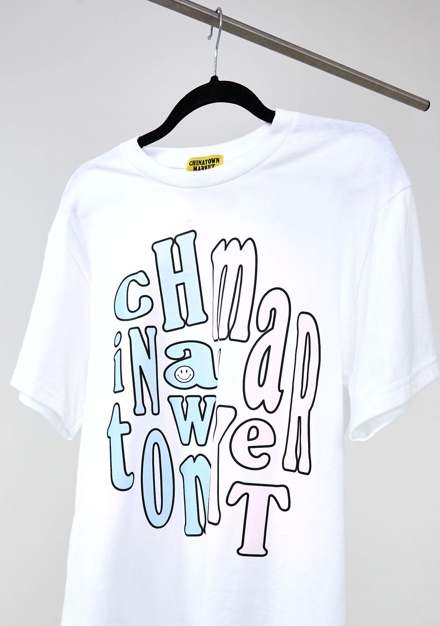 CHINATOWN MARKET UV Activated Smiley Groovy T-Shirt