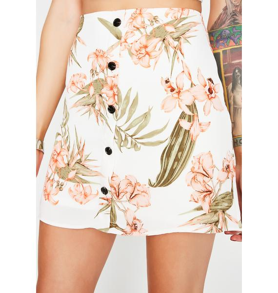 Vacay Bae Button Up Skirt
