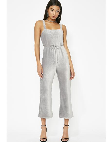 Smoky Haze Cropped Jumpsuit