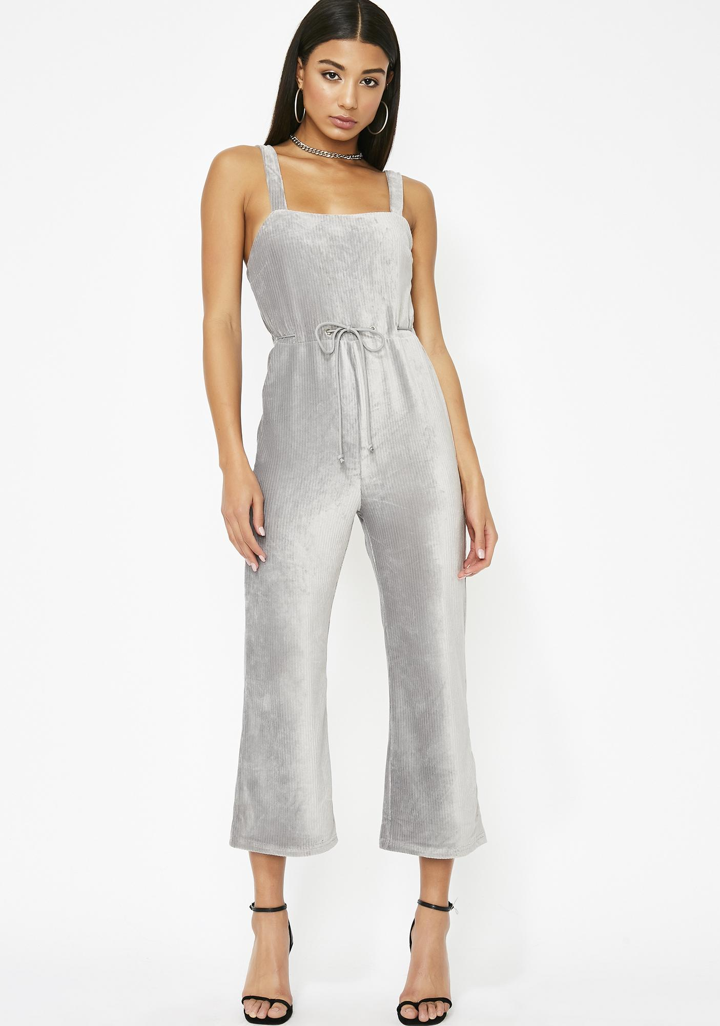 06632604d9a8 Velvet Cropped Flare Jumpsuit