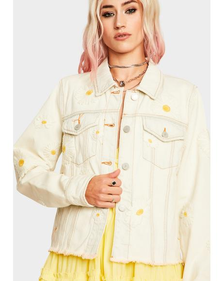Daisy Vintage Wash Denim Jacket