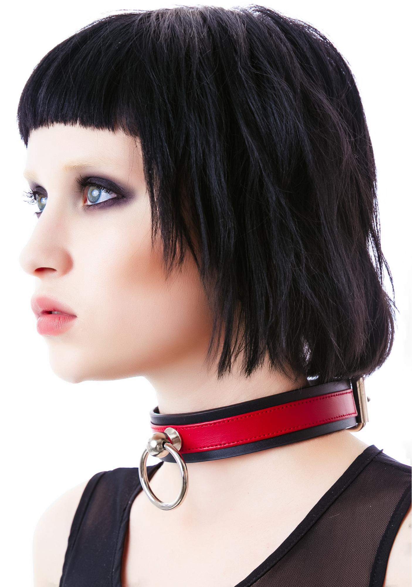 Club Exx Saddle Stud O Ring Choker