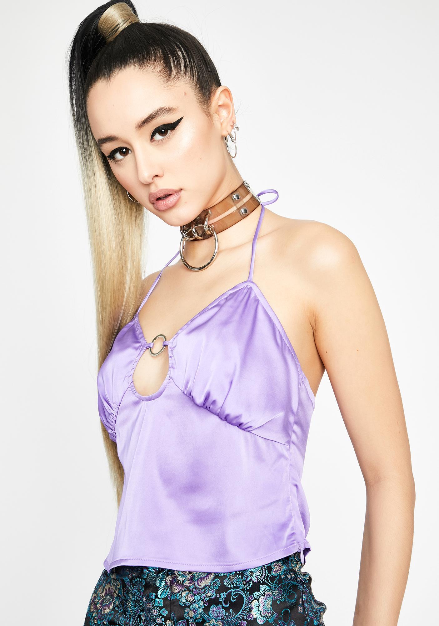 Violet Pleasure N' Pain O-Ring Top