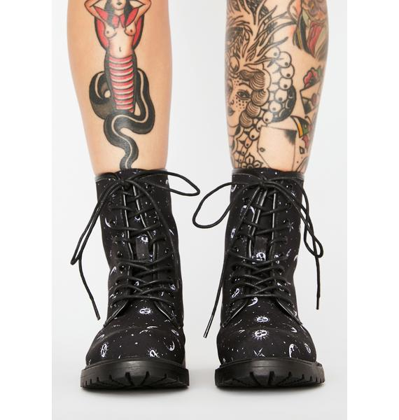 Cosmic Combat Lace-Up Boots