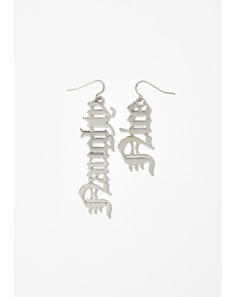 Nice N' Naughty Drop Earrings