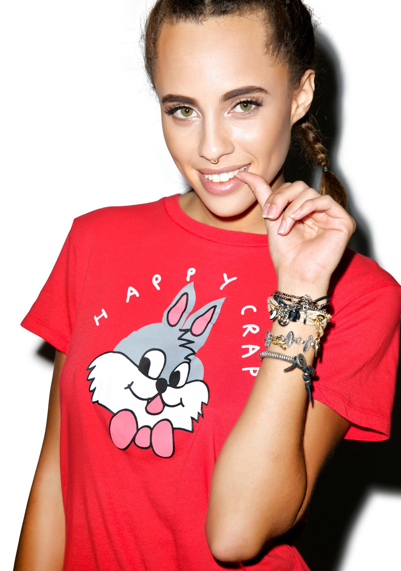 Lazy Oaf Happy Crap Tee