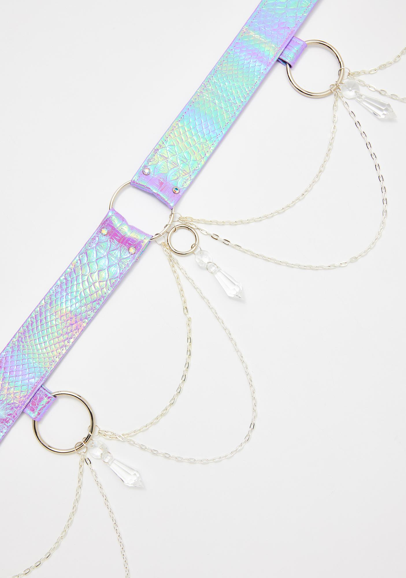 Seagypsy Couture Opal Crystal O-Ring Belt