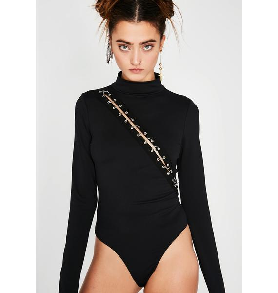 Hook It Up Pierced Bodysuit
