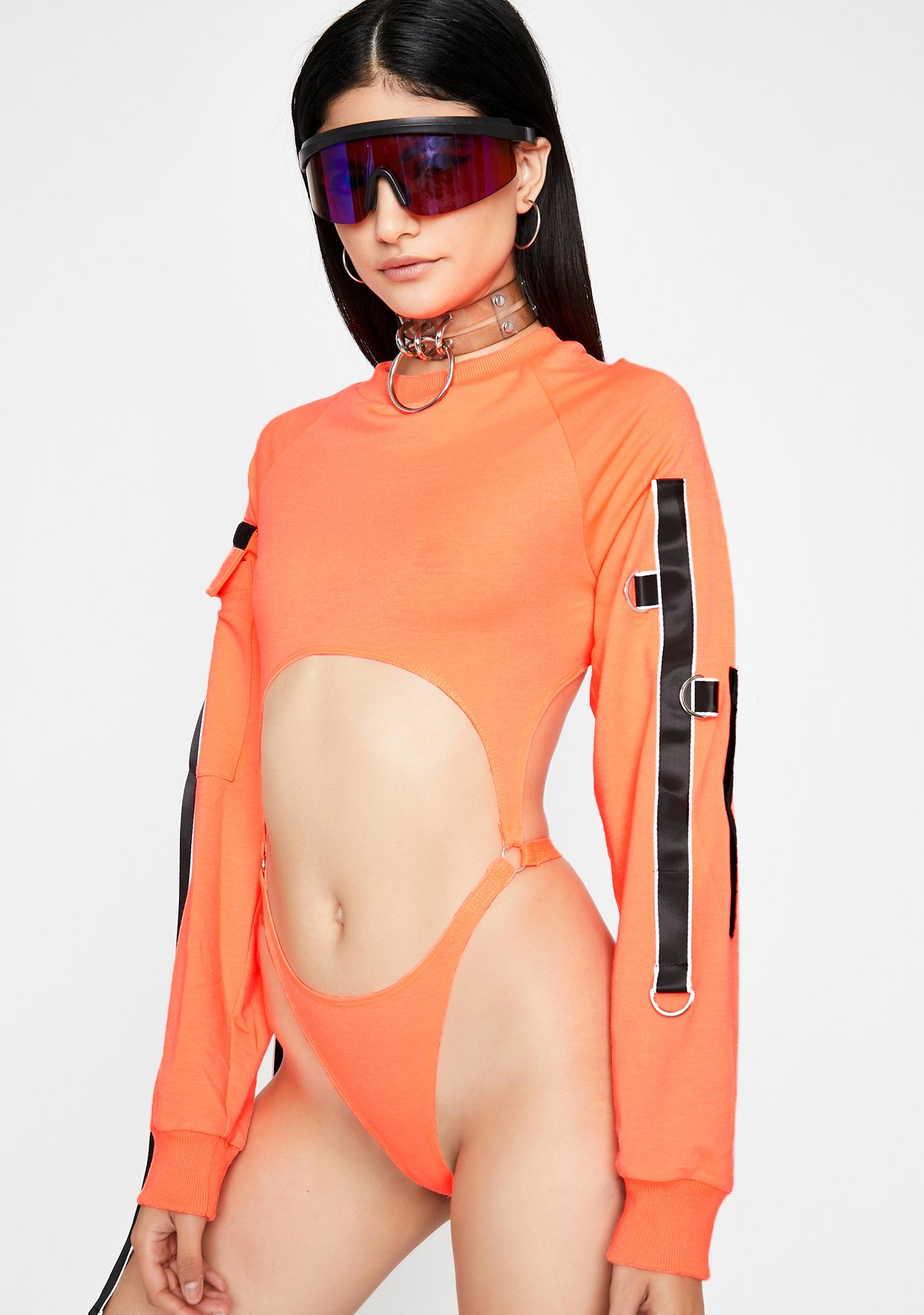 Bitter Acidic Glare Cut Out Bodysuit