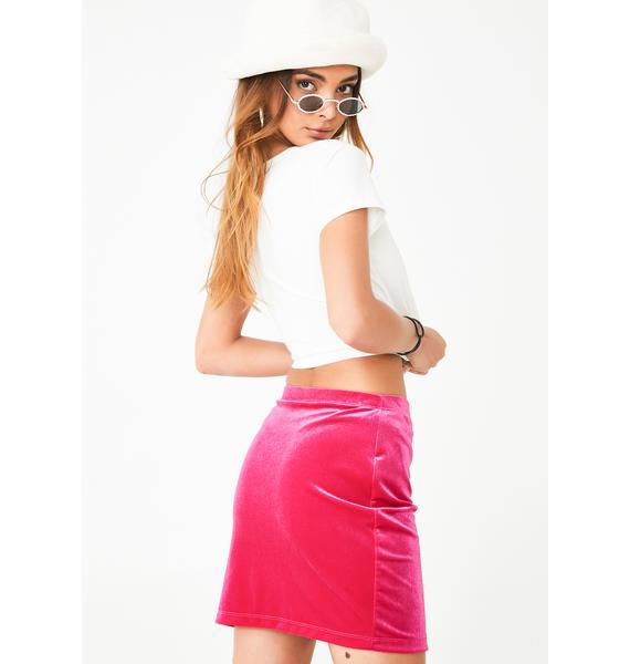 Motel Pink Cheri Split Skirt