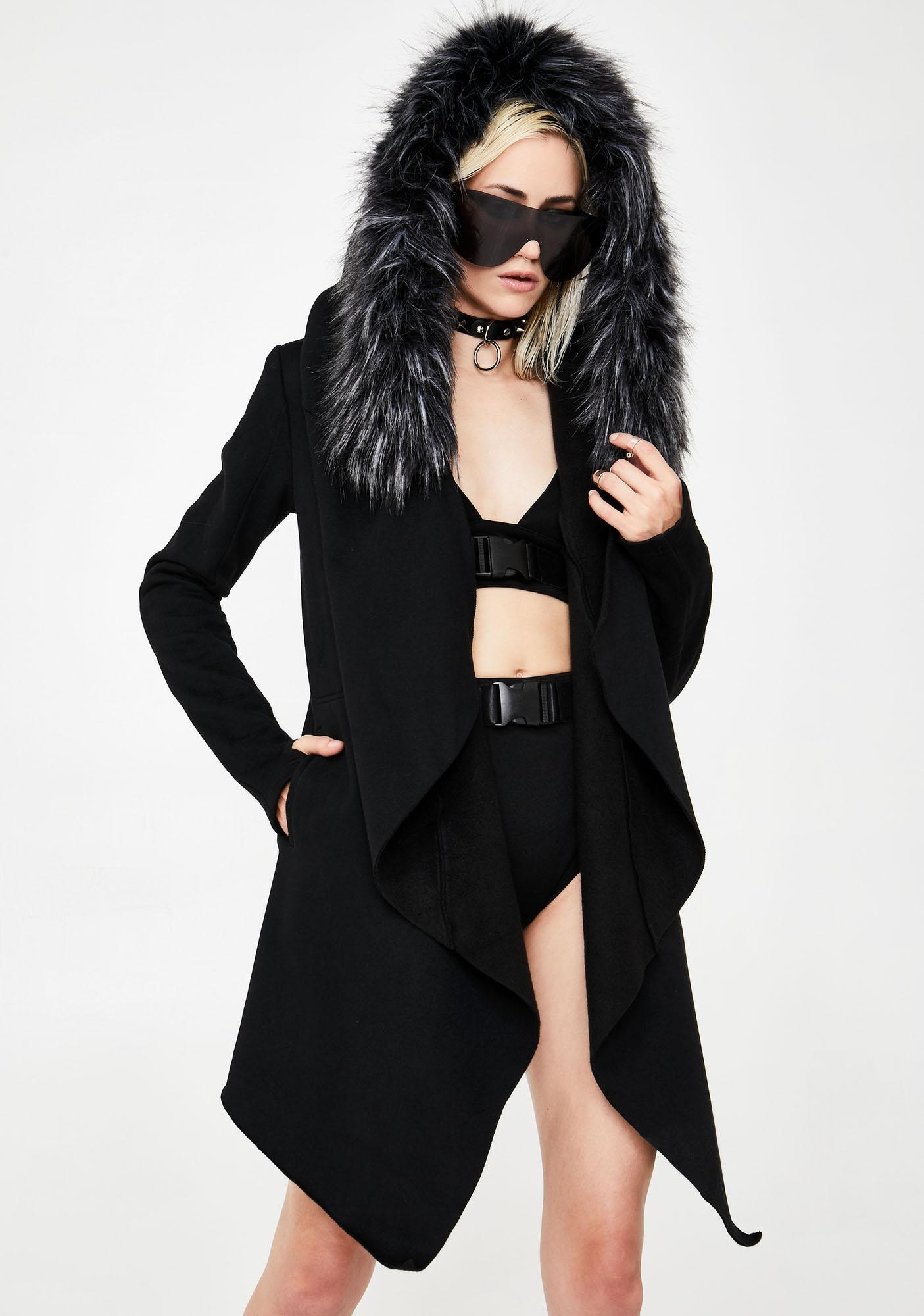 Club Exx Blurry Nightfall Faux Fur Jacket
