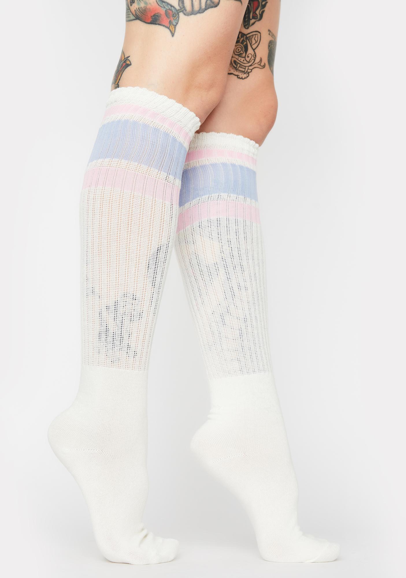 MeMoi Rib Over The Knee Socks
