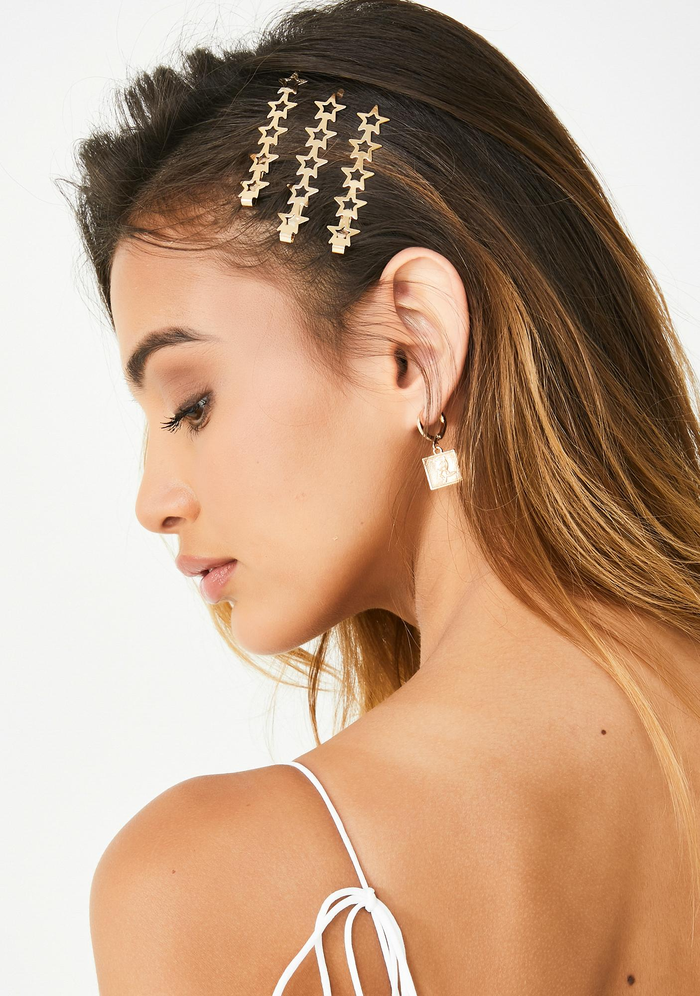 Golden Star Bright Hair Pin Set