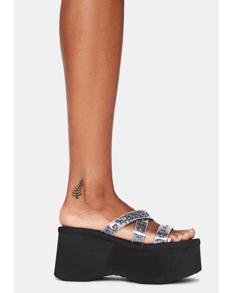 Cosmic Goth Beach Platform Sandals