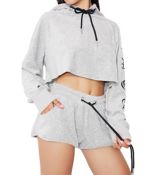 Sorry Not Sorry Velvet Shorts