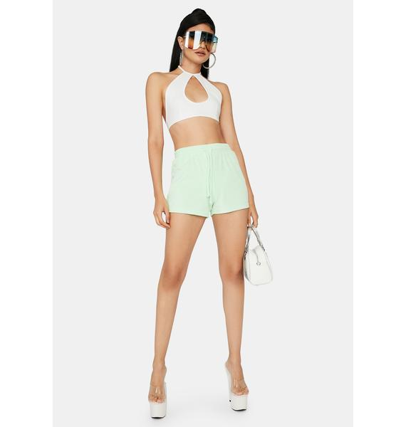 Mint Not Playing Games Lounge Shorts