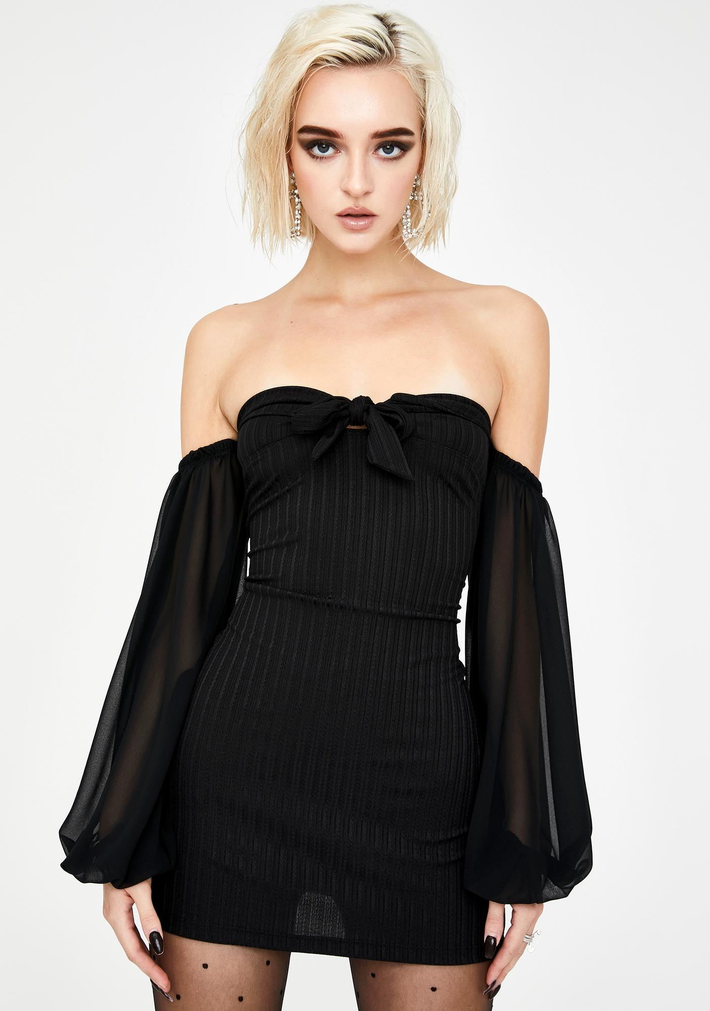 Kiki Riki Hard To Please Off The Shoulder Dress