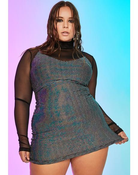 Divine Cyber Disco Mini Dress