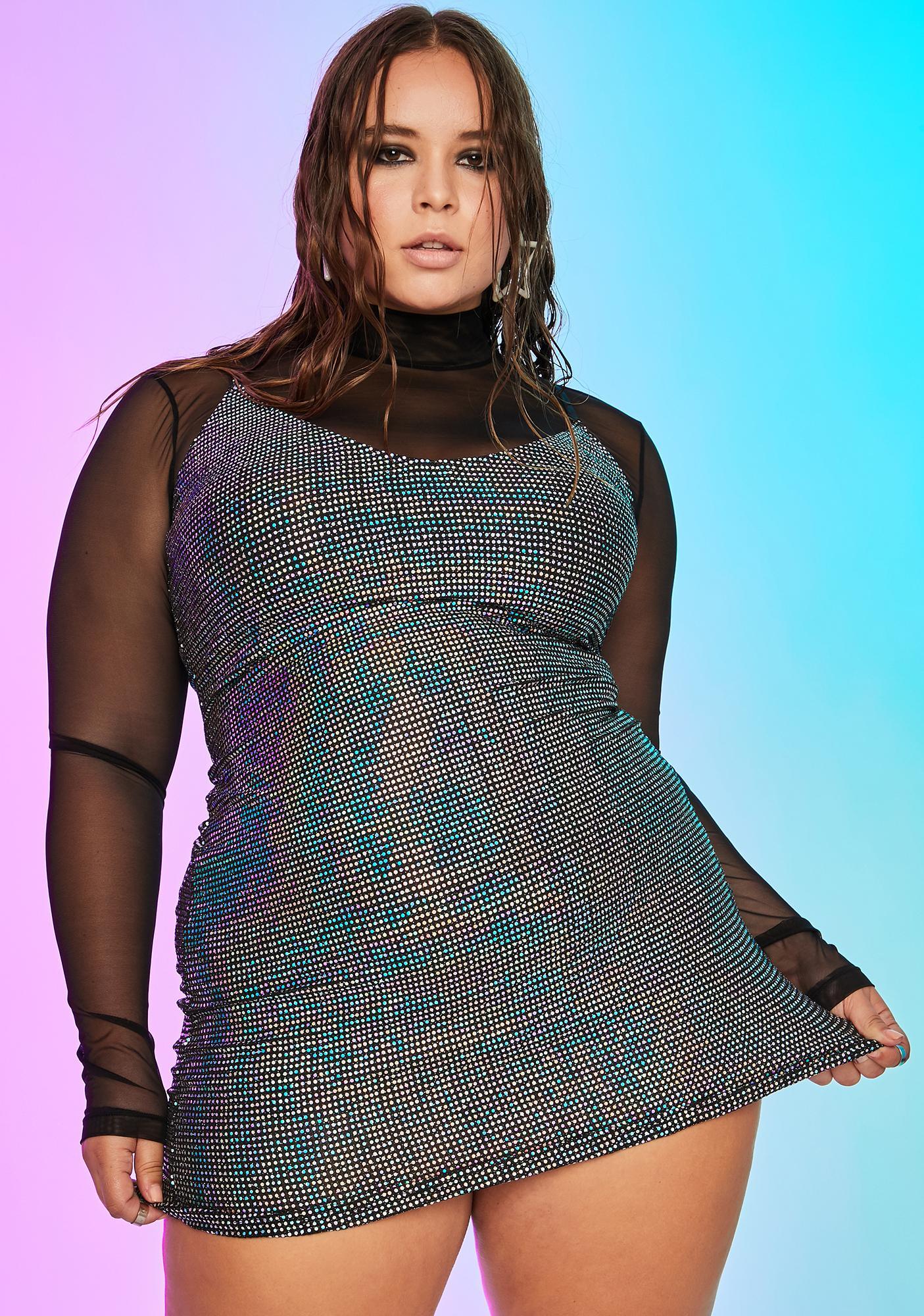 Current Mood Divine Cyber Disco Mini Dress