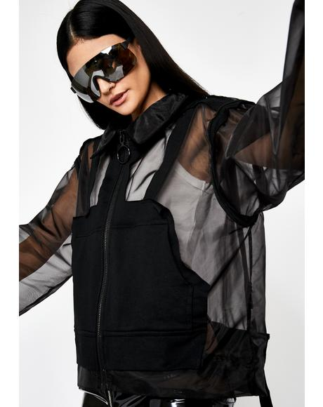 Noir Dance Trance Hooded Jacket