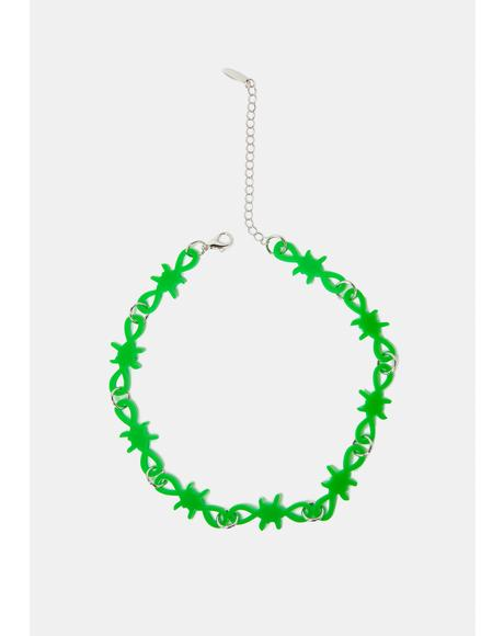 Neon Secrets Barbed Wire Chain Necklace