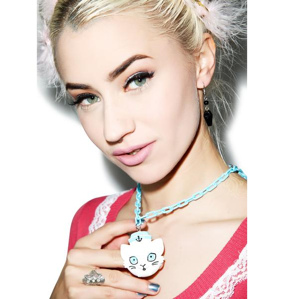 Sourpuss Clothing Sailor Kitten Necklace