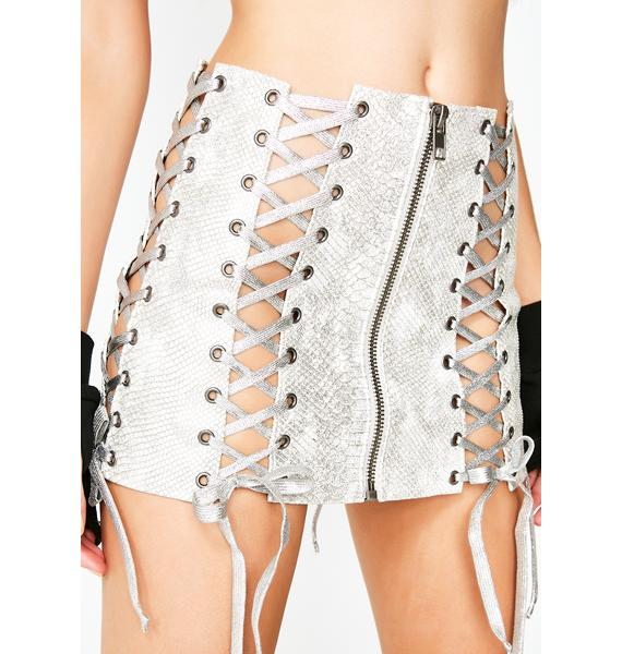 Club Exx Pure Deadly Dose Snakeskin Skirt