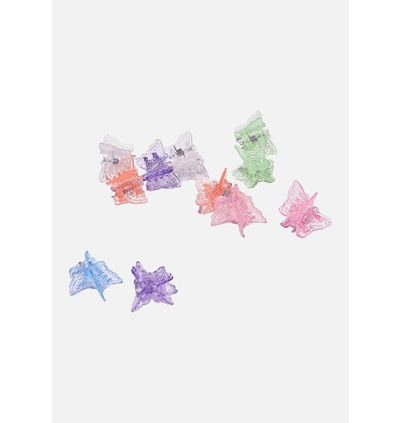 Good Times Eyewear Bright Neon Butterfly Hair Clips